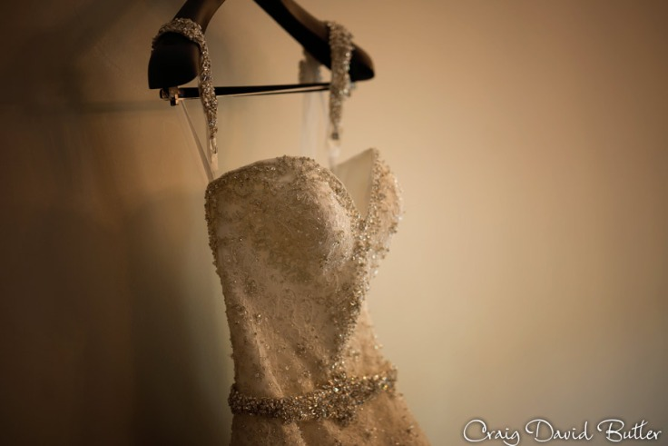 bridal gown detail photo
