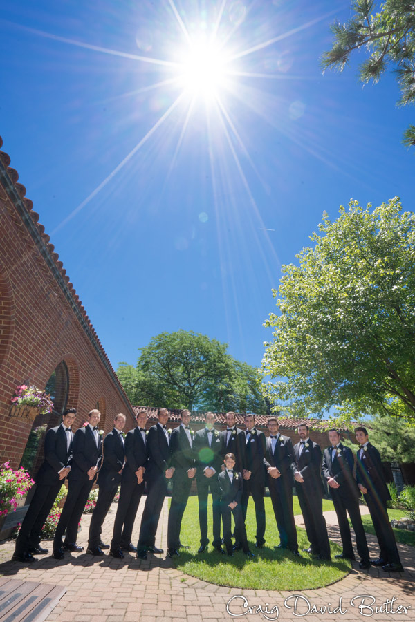 Kyle & the groomsmen portrait