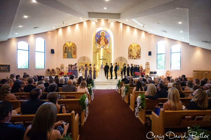 Wedding Ceremony at Holy Cross