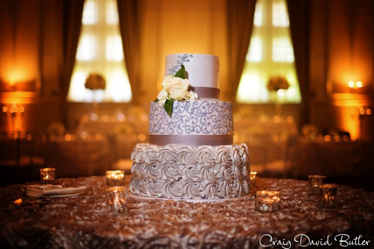 Demi & Kyles wedding cake at the Reception