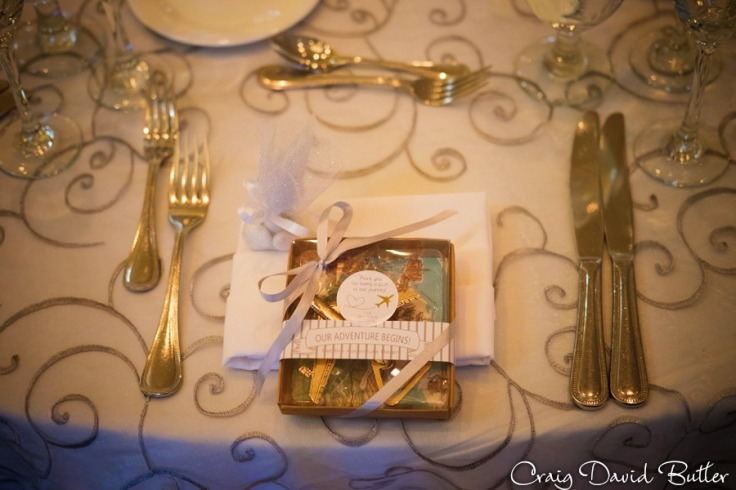 wedding Place setting at the reception