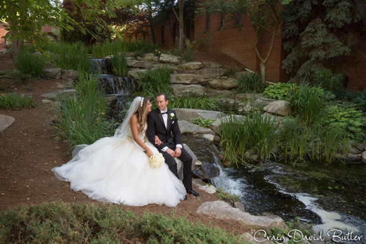 Demi & Kyle in the Waterfall Garden