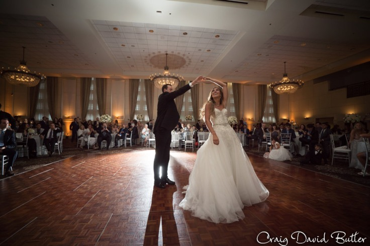 Bride & Groom during their first dance in the grand Ballroom