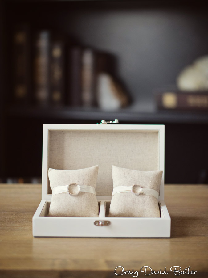 Bride & groom's  ring box and very cute ring pillows