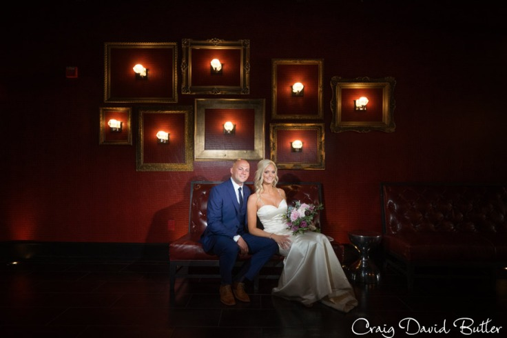 Bride & Groom portrait in the Gatsby Loft 301