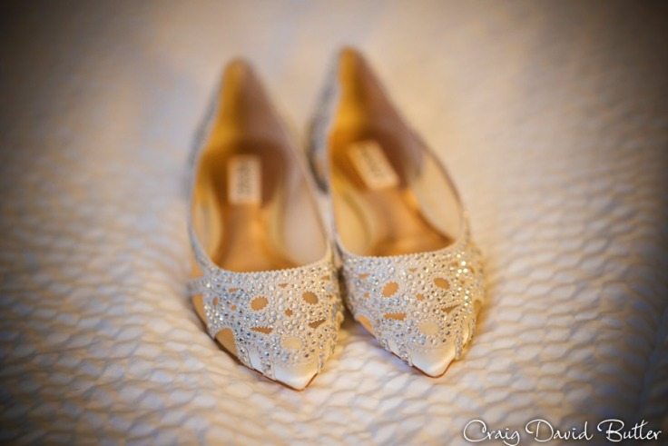 Detail of Brides wedding shoes