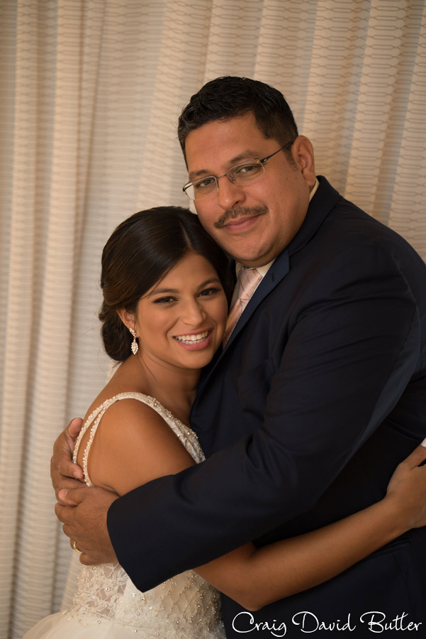 Bride and her father portrait