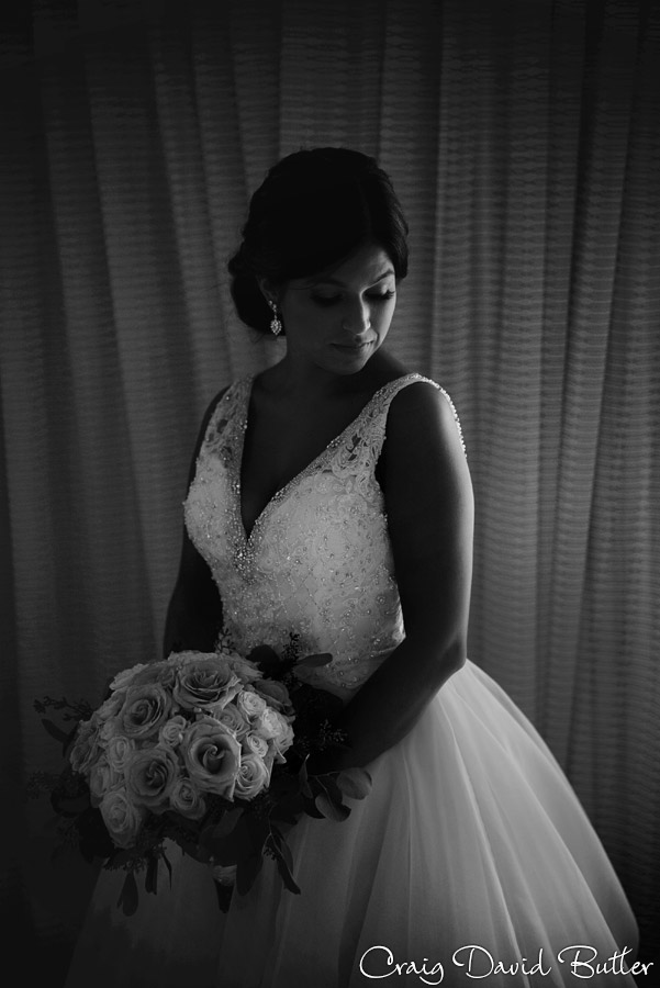 Use of light and shadow - Bride portrait Detroit
