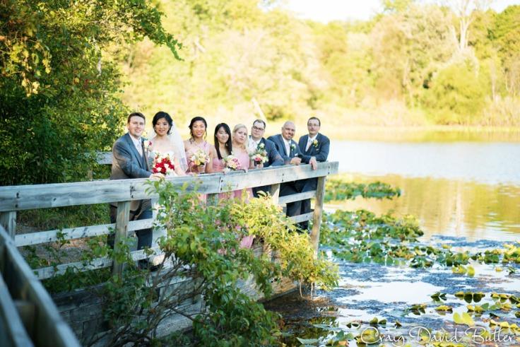 bridal party formal portrait ann arbor