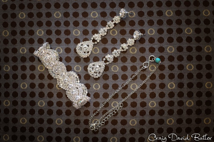 Brides  jewelry detail photo at the Diamond Center in Novi Mi