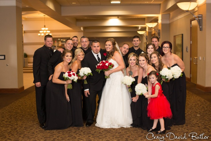 Wedding party photo at the Diamond Center in Novi MI