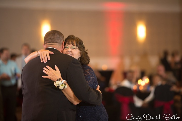 Mother Son Dance during the wedding reception at the Diamond Center in Novi MI