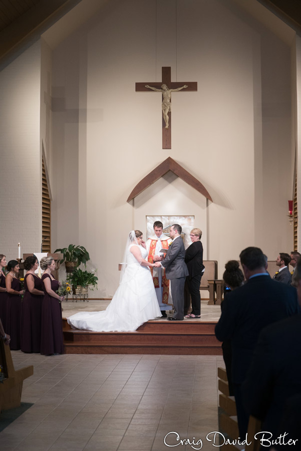 Wedding ceremony vows in St. Patrick in Brighton MI