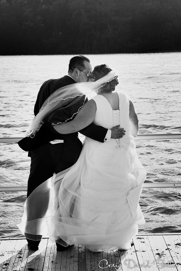 High Contrast portrait of the Bride and Groom in Hines Plymouth MI