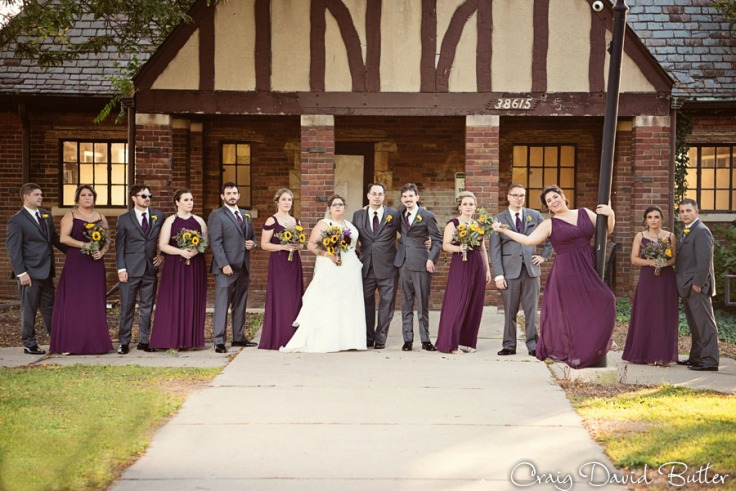 Bridal Party photo in Hines Park in Plymouth MI