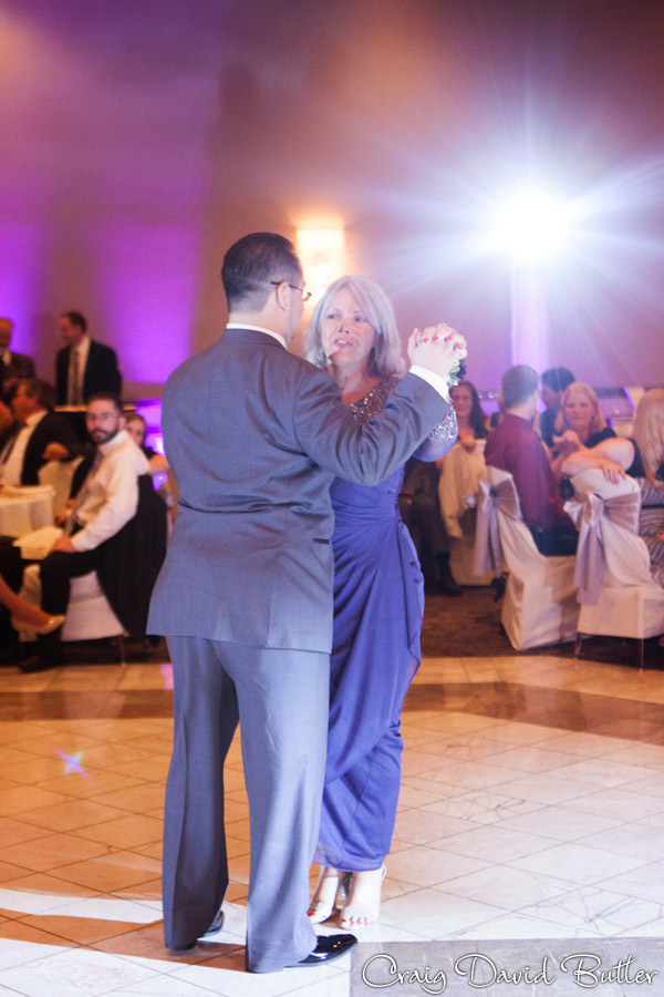Wedding Reception Mother Son Dance at laurel Manor in Livonia Michigan
