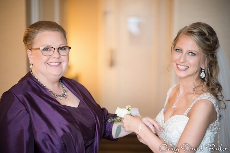 Bride with her mother at the Henry Hotel in Dearborn MI