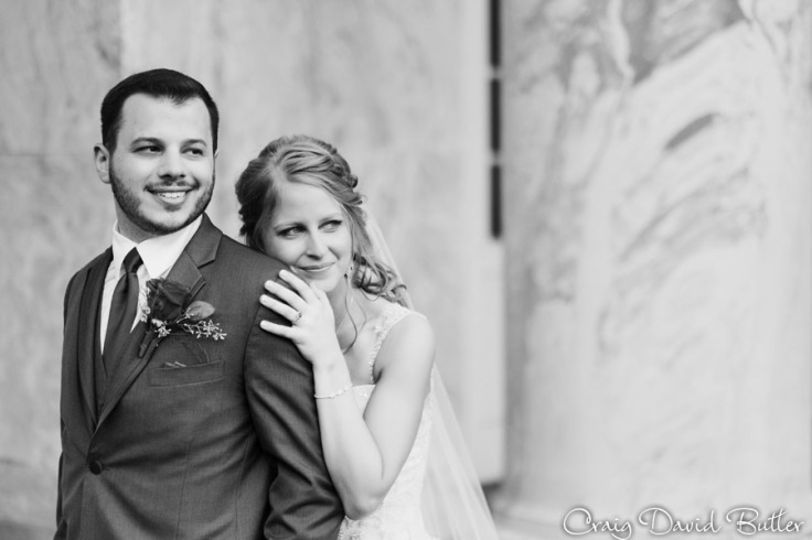 Bride & Groom Portrait at the Henry Ford in Dearborn