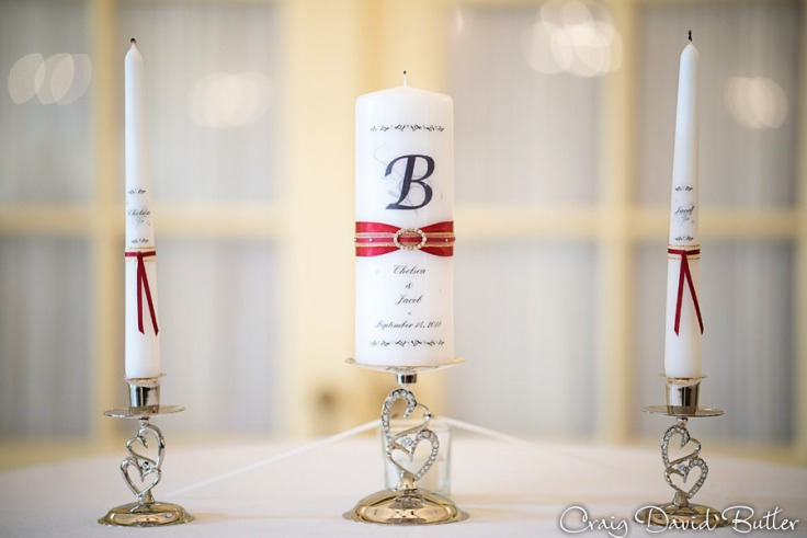 Unite Candle wedding ceremony at Lovett Hall
