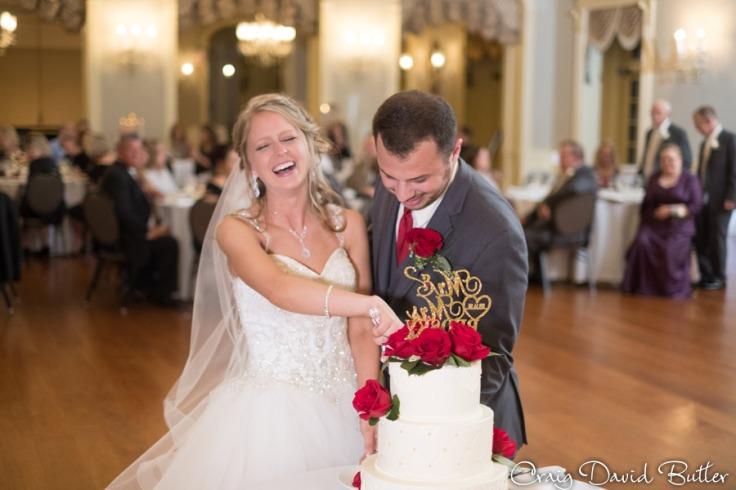 Bride & Groom Wedding Cake at Lovett Hall in Dearborn MI