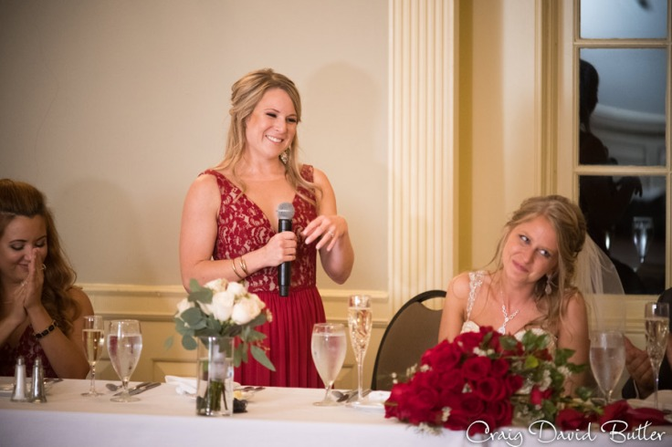 Maid of Honor toast in Lovett Hall at the Henry Ford in Dearborn MI by Craig David Butler