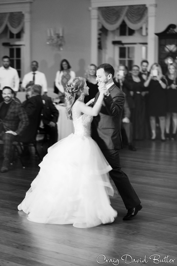 Bride and groom first dance Lovett Hall