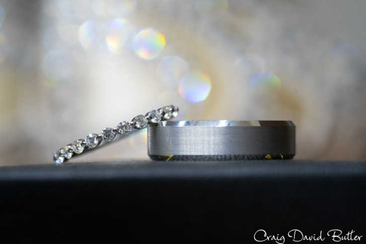 Wedding ring macro photo at the Inn at St. Johns in Plymouth MI by Craig David Butler