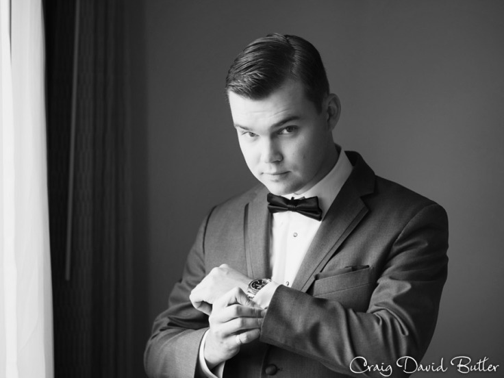 Groom detail photo  at the Inn at St. Johns in Plymouth MI by Craig David Butler
