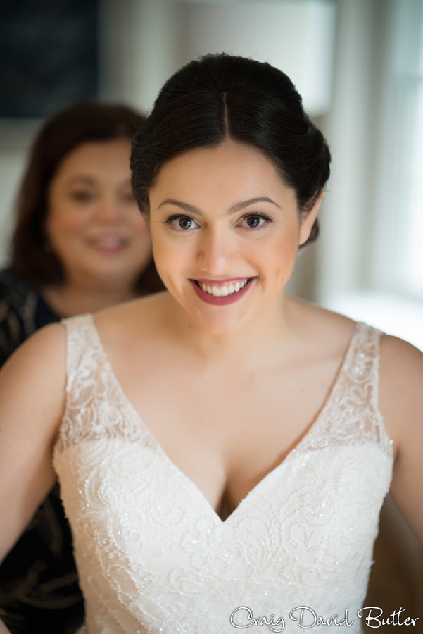 Bride portrait getting ready at the Inn at St. Johns in Plymouth MI by Craig David Butler