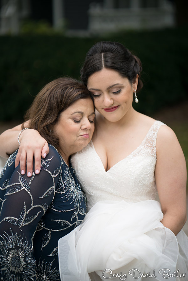 Bride and Mom Portrait at Mill Race Village in Plymouth MI by Craig David Butler