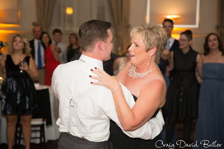 Mother son dance in the grand ballroom at St. John's plymouth