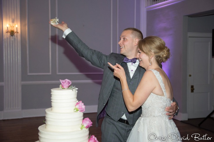 Cake cut at the Meeting House grand Ballroom in Plymouth MI