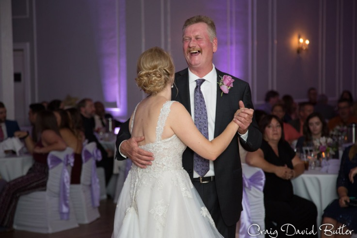 Father Daughter Dance during the Reception at the Meeting house Grand Ballroom in Plymouth