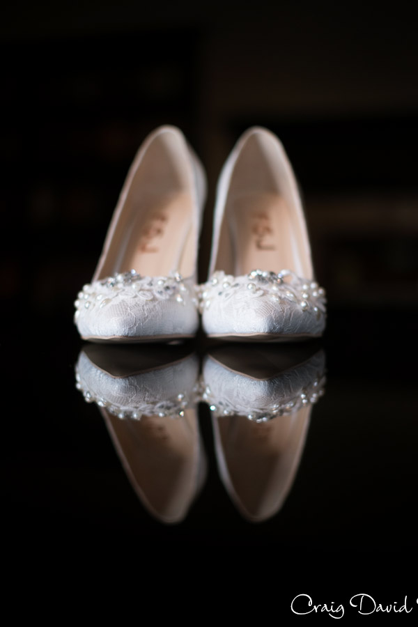 Brides shoes at the fairlane club Dearborn