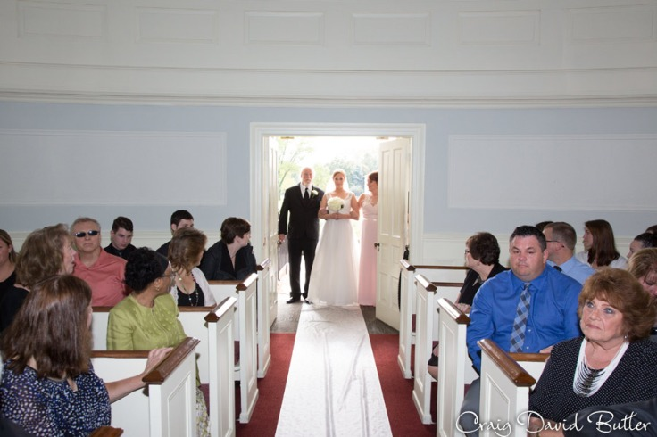 Wedding Processional at Martha Mary Chapel in Greenfield Village
