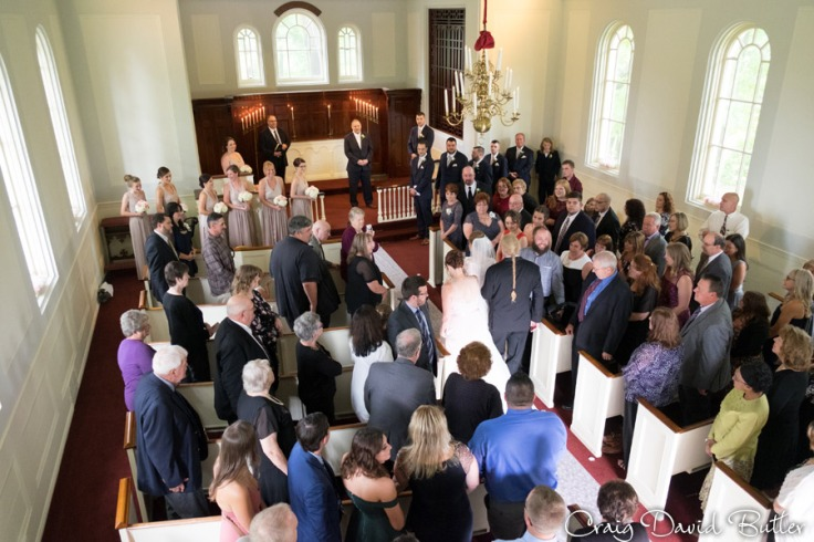 Processional for the wedding at Martha Mary Chapel