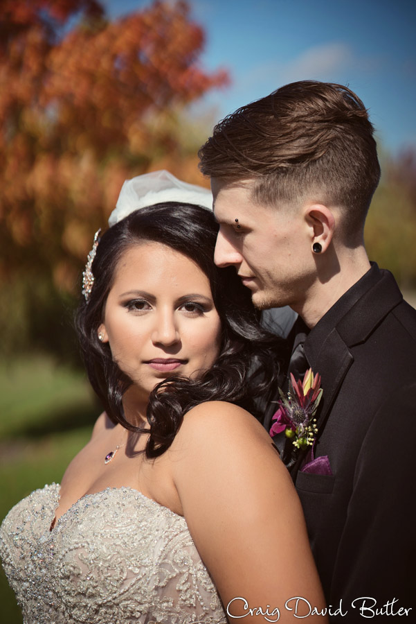 Beautiful portrait of Bride and Groom in Livonia Michigan