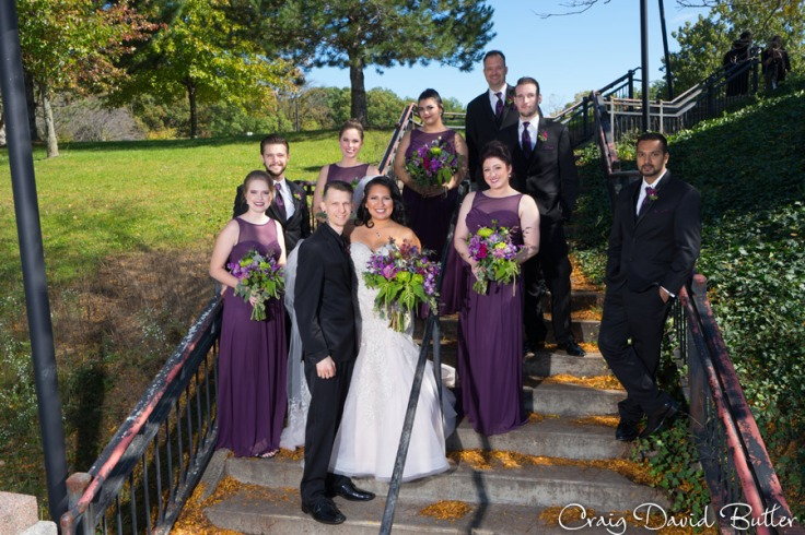 Bridal Party Portrait in Hines Park Livonia MI by Craig David Butler