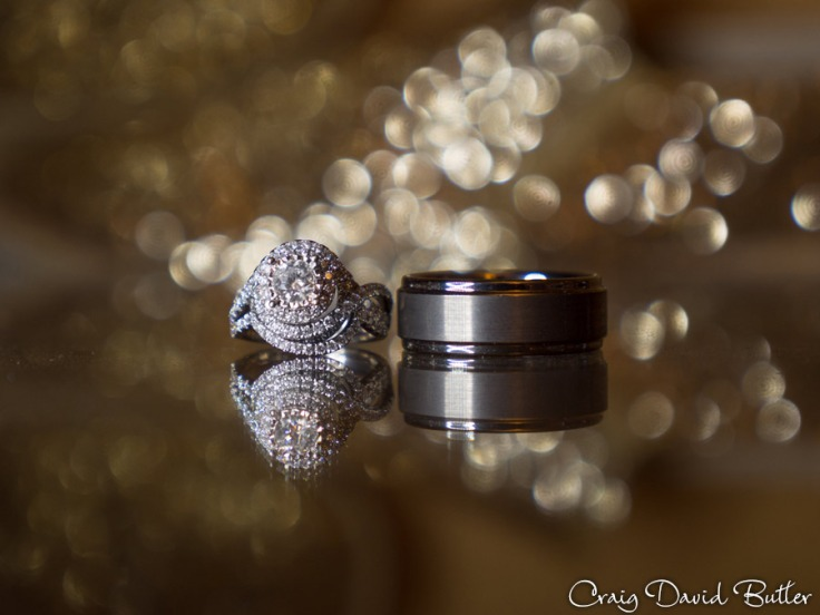 Detail of Bride and Groom's rings