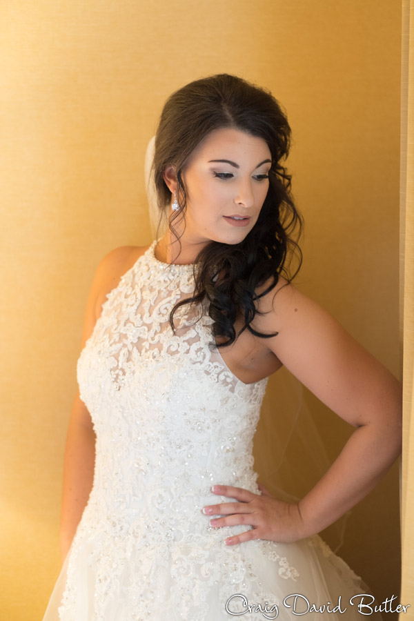 Beautiful photo of the bride at the Dearborn Inn in the Bridal Suite by Craig david Butler