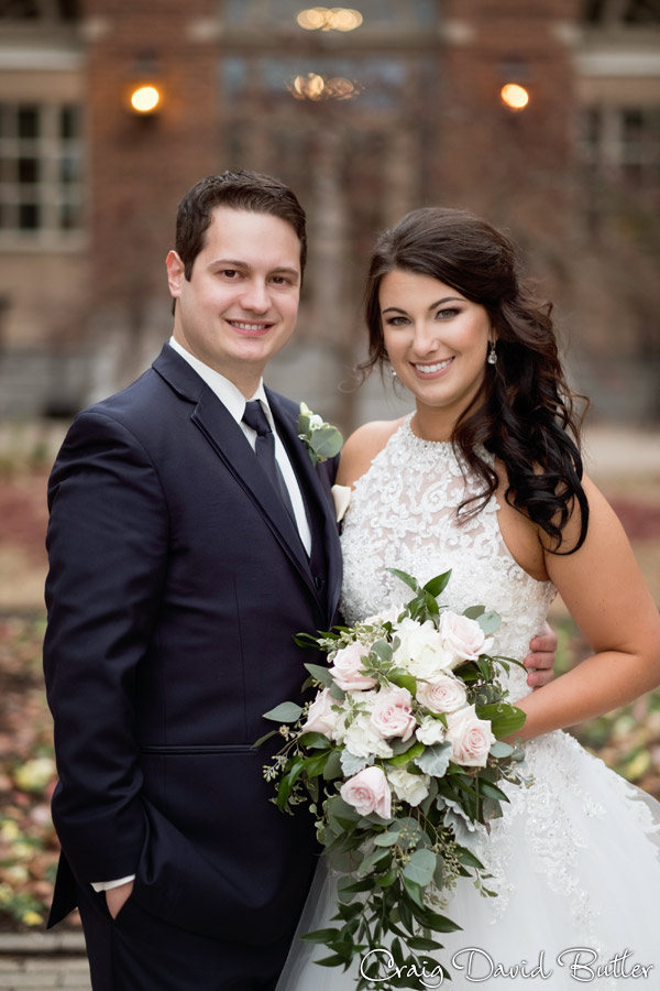 Bride & Groom Portrait for the wedding at the Dearborn Inn