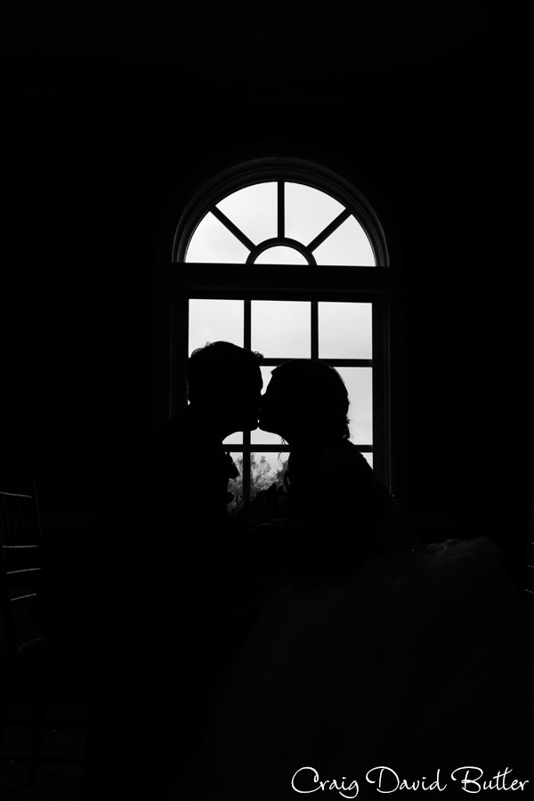 Bride & Groom Silhouette wedding photo at the Dearborn Inn