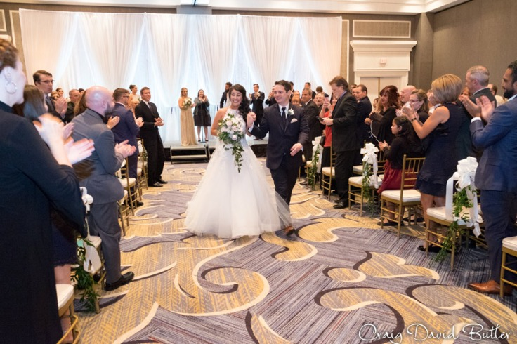 wedding ceremony at the Dearborn Inn
