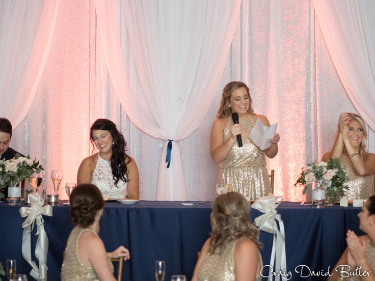 Matron of Honor speech in the Main Ballroom at the Dearborn Inn