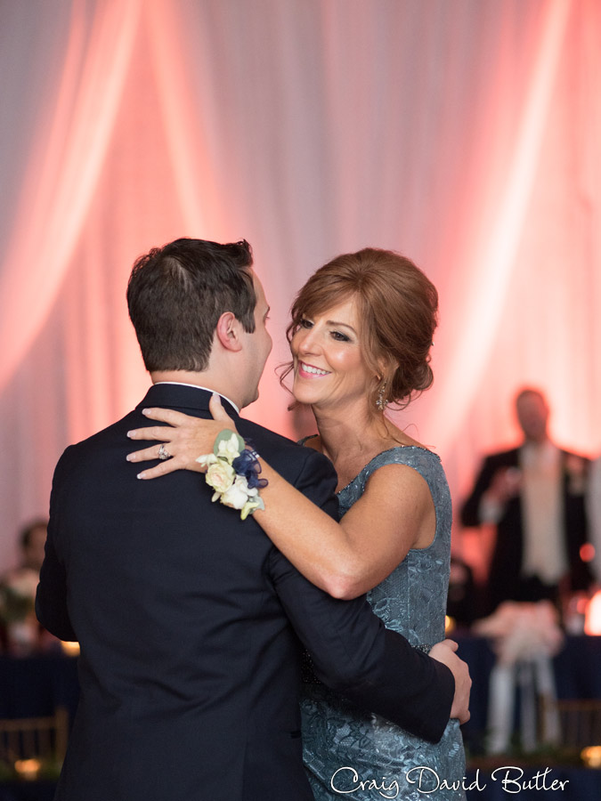 Mother son dance in the main ballroom at the Dearborn Inn