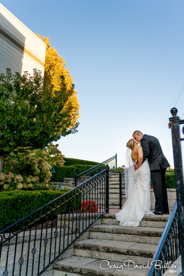 Bride and Groom photo at the italian American Club