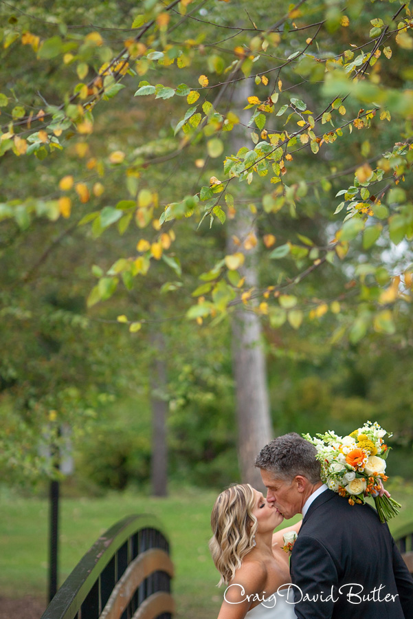 Bride and Groom photo at Central park in Milford