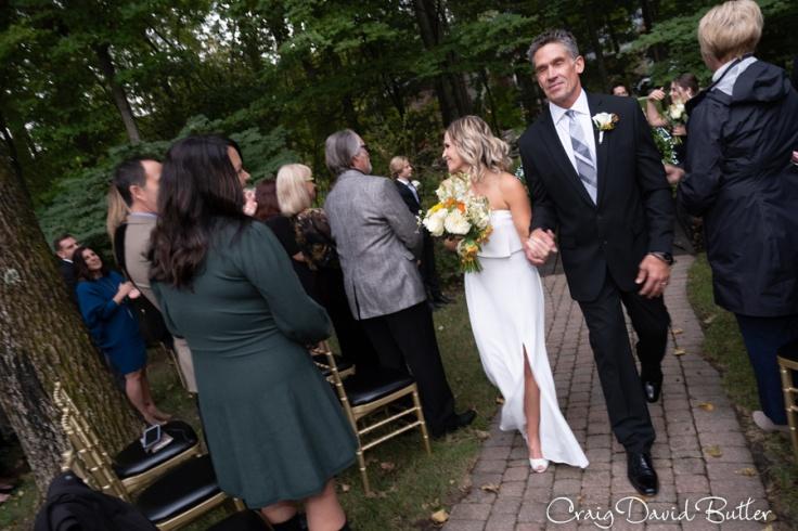 Bride and groom recess