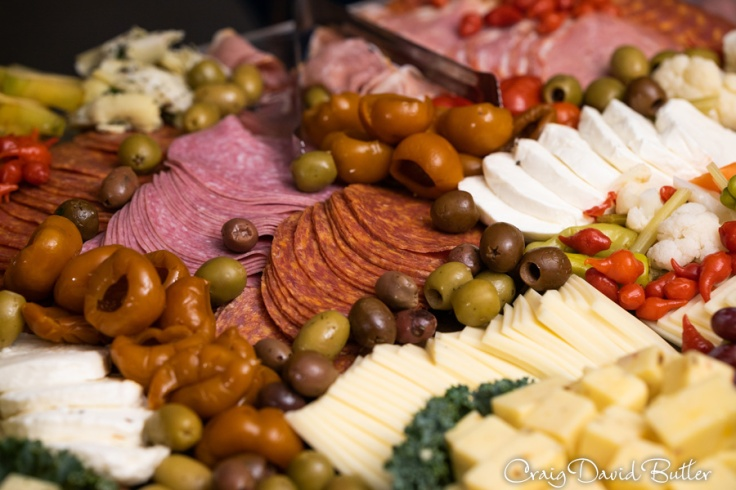 Snacks at the wedding reception