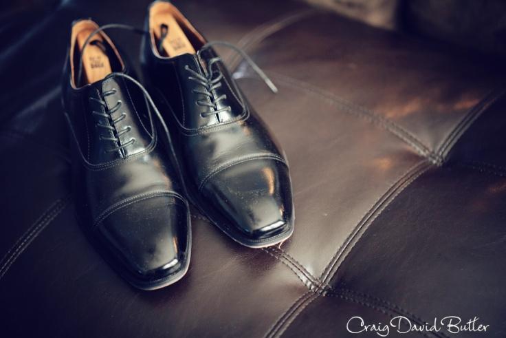 Groom's shoe shot